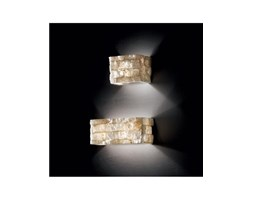 Carrara Ap2 Applique Effetto Marmo Carrara In Alabastro Ideal Lux Beige