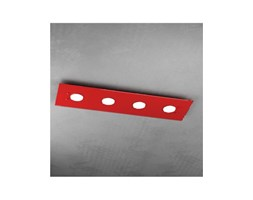 Plafoniere Led Rosse : Plafoniera led in vetro path rosso pl top light