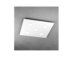 Plafoniere Led 60x60 : Plafoniera led in vetro path 60x60 argento 1141 pl5 top light
