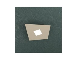 Note Plafoniera Led 1 Luce Quadrata Sabbia 24x23cm - Top Light LED Grigio Bagno Design