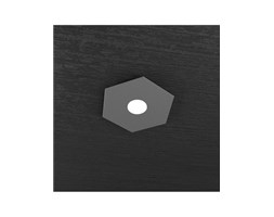 Hexagon Plafoniera Led 1 Luce Antracite 25x29cm - Top Light Zona giorno Design LED Nero Metallo Moderno