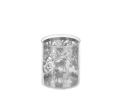 Portacandele SILVER SNOWY -Small-