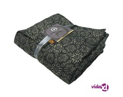 Overseas Plaid Trapuntato in Microfibra 140x220 cm Nero
