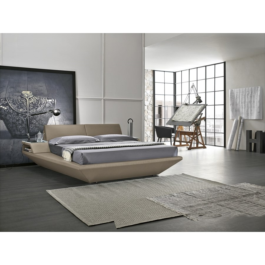 Letto Matrimoniale Elba King Size Linea Dreamer In Finitura Tortora ...
