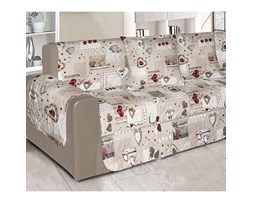 Copridivano trapuntato DOUBLEFACE - Salva divano - 100% MADE IN ITALY - 3 POSTI - Holly Cuori Country chic