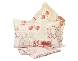 Completo Lenzuola in Flanella Sweet Shabby ROSA - Made in Italy -Cotone a trama fitta - Letto misura Francese tipo Ikea Beige Cotone Shabby