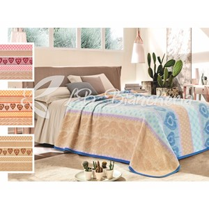 Letto 2 Piazze.Coperta In Lana Cuori Country Love Made In Italy 2 Piazze Letto