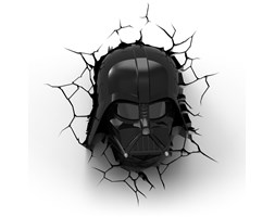 3DLightFX Darth Vader™ 3D Deco Light Lampada LED 3D Star Wars Darth Vader da parete a batteria LED