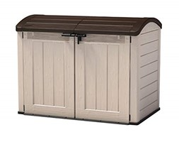 Keter Porta Attrezzi Store It Out Ultra Beige/Marrone In Resina Cm 177X113X134 H