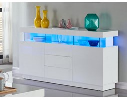 Credenza Moderna Led : Credenza moderna open madia cassettiera bianca con luci a led rgb