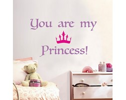 Sticker Princess 47.5x70 cm Rosa