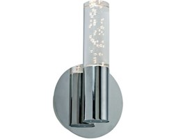 Applique classico Bula LED integrato cromo, in metallo, 13x13 cm, INSPIRE LED