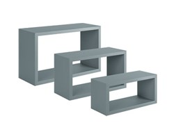 Mensola a cubo Spaceo L 45 x H 27 cm, Sp 15 mm grigio