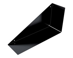 Mensola a L L 18 x P 18 cm, Sp 0.15 cm nero Industriale Design Marrone