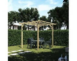 Pergola Apple in legno marrone L 300 x P 300, H 248 cm