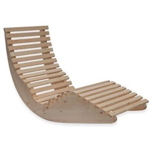Lettino Relax Chaise Lounge A Dondolo In Legno Massello Per Spa ...