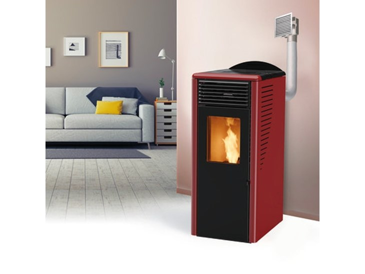 Stufa A Pelletfusion 10 2c 10 Kw Bordeaux