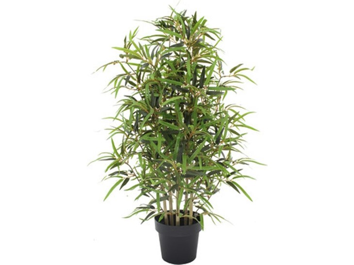 Pianta Artificiale Bamboo In Vaso H 100 Cm