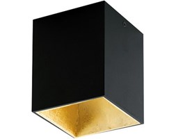 Plafoniera Polasso nero, in alluminio, 10x10 cm, LED integrato 3.3W 340LM IP20 EGLO