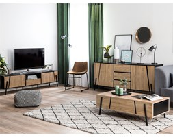 Credenza buffet in color legno e nero BLACKPOOL Design
