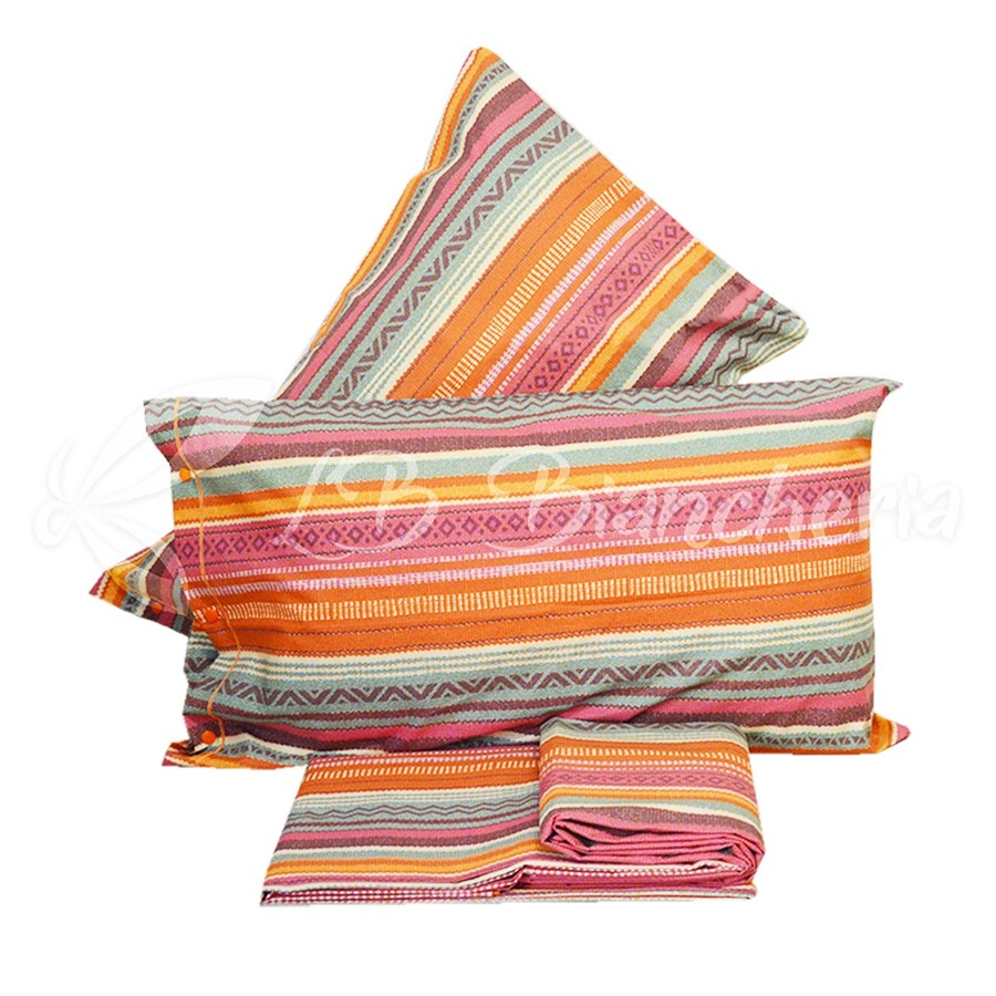 5d67bb7621 Completo Lenzuola CARIOCA RIGHE GEOMETRICAL - Made in Italy - 100% Cotone a  trama fitta