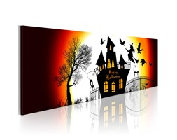 Quadro - Halloween Nero 120x40cm Erroi Multicolore