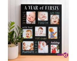 Pearhead Cornice Fotografica a Lavagna Baby's Firsts