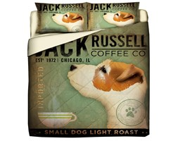 Trapuntino Quilt Con Stampa Pet Therapy Jack Russel - Matrimoniale/
