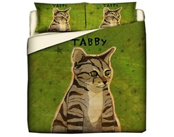 Trapuntino Quilt Con Stampa Pet Therapy Tabby Cat - Matrimoniale/