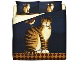 Trapuntino Quilt Con Stampa Pet Therapy Tiger Cat - Matrimoniale/