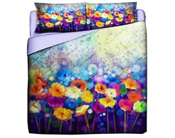 Trapuntino Quilt Con Stampa Romantic Flowers Annabelle - Matrimoniale/