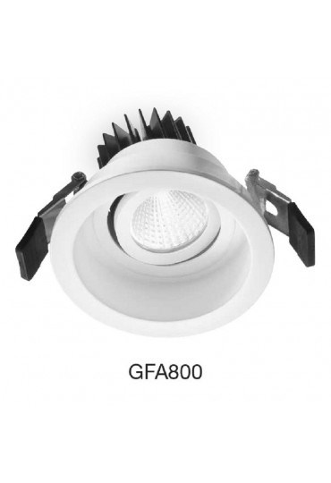 Faretto A Incasso Led.Faretto Incasso Led 9w Orientabile Gfa800 Gea Led