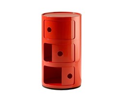 Kartell Contenitore Componibile Standard, ABS, Rosso, 32 x 32 x 58.5 cm