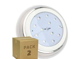 PACK Faretto Piscina LED Superficie RGBW 24W (2 Un) RGBW