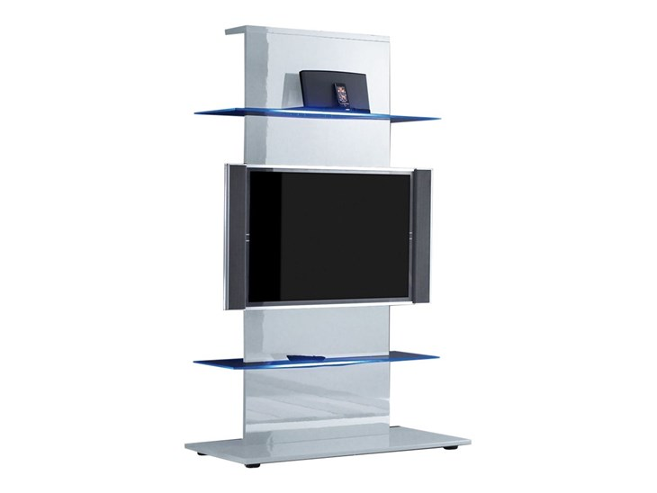 Colonna porta TV Primo in bianco lucido - ✅ Homelook