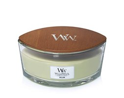 WoodWick Ellipse Scented Candle, Willow Cera di paraffina Cera vegetale