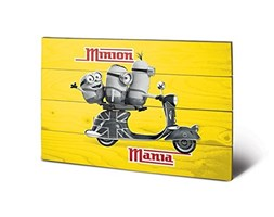 Pyramid International sw11568p Minions (Minion Mania Yellow) da Parete in Legno – in, Legno, Multicolore, 40 x 2,5 x 59 cm