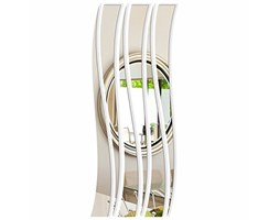 FLEXISTYLE Specchio Decorativo Waves d, Modern Design Decoration, 3mm Acrylic Mirror from EU, Living Room, Bedroom, Hallway, Unbreakable, DIY Home Decoration, Silver, Made in EU
