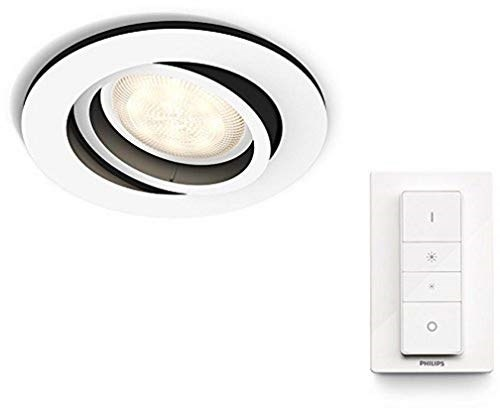 Lampada Led Con Telecomando.Philips Lighting Hue White Ambiance Milliskin Faretto Da Incasso