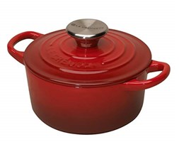 Le Creuset Tradition - Cocotte in Ghisa, 10 cm, Rosso Ciliegia