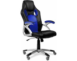 Mchaus - Mc Haus - Sedia da ufficio gaming ergonomica sedia gaming design sportivo tessuto 3D Racing Blu Grigio Sedia gaming Design Sedia reclinabile