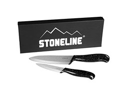 STONELINE 12454 Set di 2 Coltelli in Ceramica, Composto da Coltello da Chef/Coltello per Verdure, Impugnatura Ultraleggera, Coprilama coltello da chef coltello per verdura set di coltelli coltello in ceramica