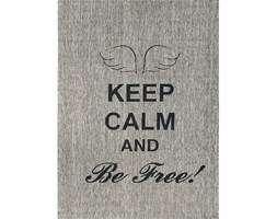 TAPPETO MODERNO KEEP CALM AND BE FREE CM. 120X170 120x170 cm