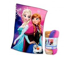 PLAID COPERTA IN PILE DISNEY FROZEN cm. 100 x 150 ROSA