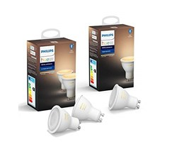 Philips Hue White Ambiance, 3 Faretti LED Smart, Attacco GU10, 6 W, da Luce Calda a Fredda, con Bluetooth