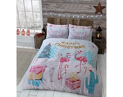 Sleepdown Flamingo Christmass Multi Set Copripiumino, Doppio