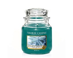 Yankee candle Jar Icy Blue Spruce Candela di Natale 5038581051178, Multicolore, Unica Natale