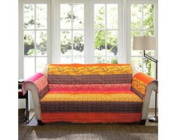 Lush Decor Royal Empire Slipcover/Furniture Protector for Sofa, Tangerine