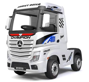Camion Elettrico Truck Per Bambini 12v Mercedes Actros Bianco
