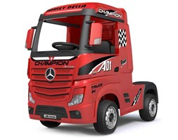 Camion Elettrico Truck Per Bambini 12v Mercedes Actros Rosso Rosso